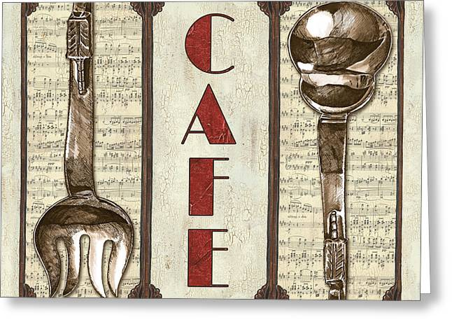 Elegant Bistro 2 Greeting Card by Debbie DeWitt