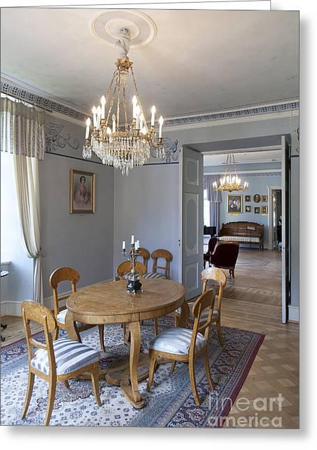 Oriental Rug Greeting Cards - Elegant Dining Room Greeting Card by Jaak Nilson
