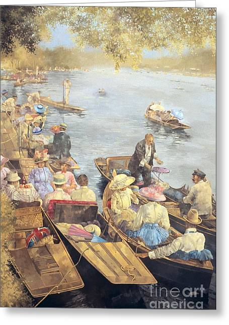 River Paintings Greeting Cards - Elegant Henley Greeting Card by Peter Miller