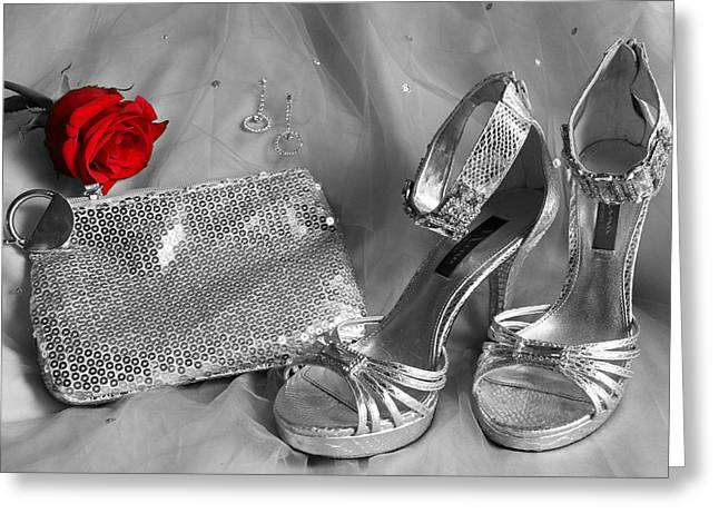 Elegant Night Out in Selective Color Greeting Card by Mark J Seefeldt