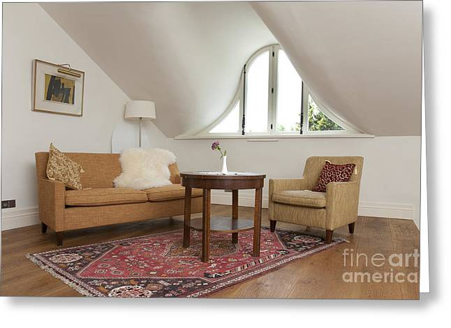 Coffee Table Couch Greeting Cards - Elegant Sitting Room Greeting Card by Jaak Nilson