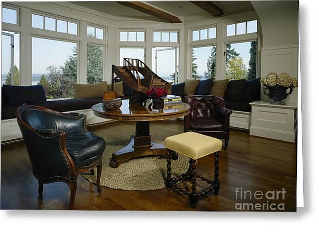 Elegant Sitting Room Greeting Card by Robert Pisano