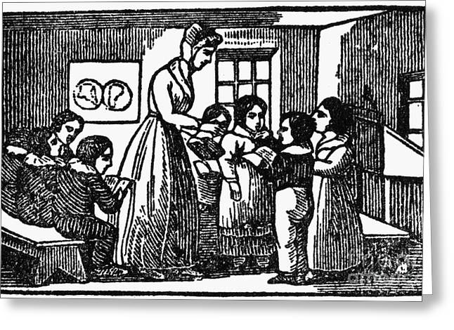 One Room School Houses Greeting Cards - Elementary School, 1831 Greeting Card by Granger