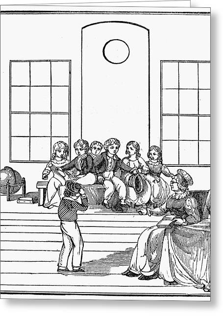 Lessons Greeting Cards - Elementary School, 1837 Greeting Card by Granger