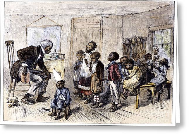 Jim Crow South Greeting Cards - Elementary School, 1879 Greeting Card by Granger