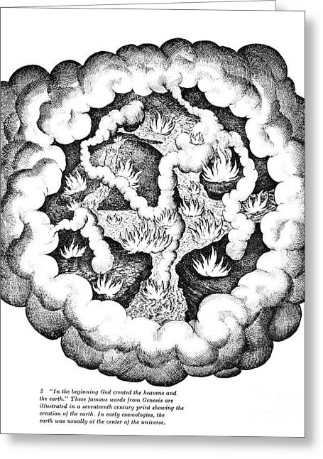 Fludd Greeting Cards - Elements Of Chaos, 1617 Greeting Card by Granger