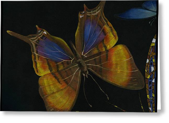 Elena Yakubovich Greeting Cards - Elena Yakubovich - Butterfly 2x2 top left corner Greeting Card by Elena Yakubovich