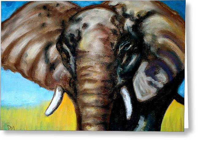 Elephant Pastels Greeting Cards - Elephant Greeting Card by Pete Maier