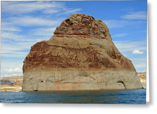 Desert Lake Greeting Cards - Elephant Rock Lake Powell Greeting Card by Chuck Wedemeier