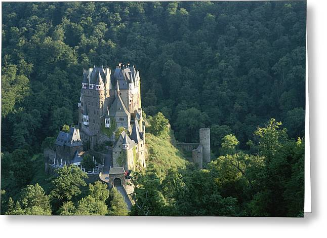Art Of Building Greeting Cards - Elevated View Of Enz Castle Greeting Card by Carsten Peter