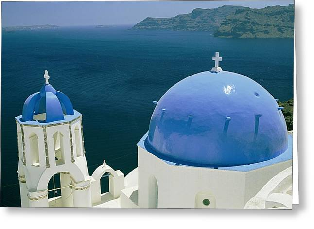 Slavic Greeting Cards - Elevated View Of The Aegean Sea Greeting Card by Todd Gipstein