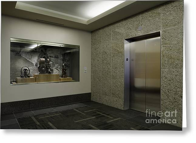 Elevator Greeting Card by Robert Pisano