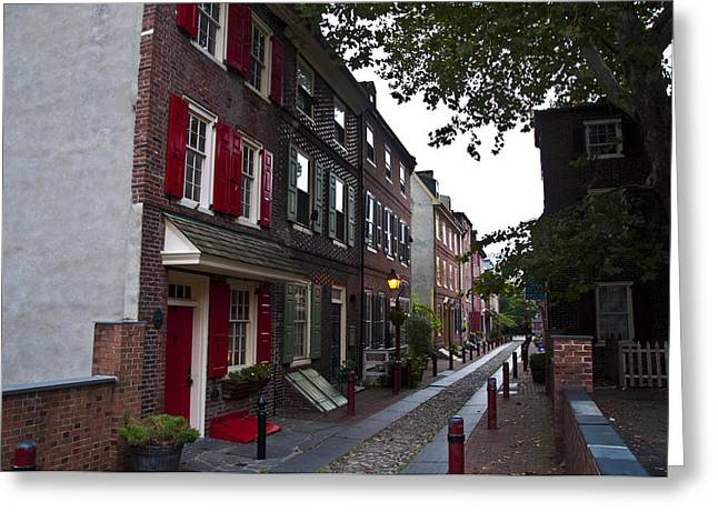 Philadelphia Alley Greeting Cards - Elfreths Alley Greeting Card by Bill Cannon