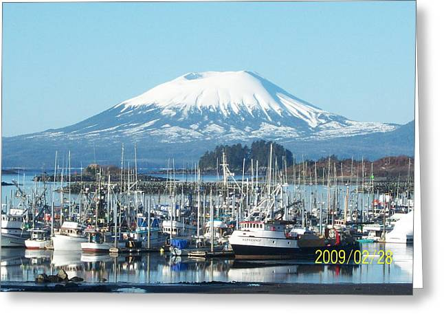 Eliason Harbor Greeting Card by Tracy Jacobson