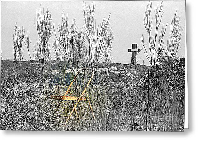 Empty Chairs Photographs Greeting Cards - Elijahs Chair Greeting Card by Joe Jake Pratt
