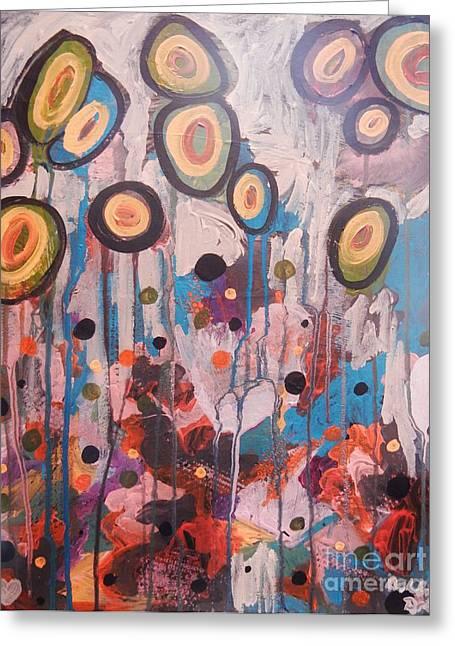Transfer Paintings Greeting Cards - Elixir Greeting Card by Ashley Brake