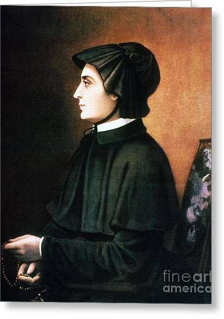 Best Sellers -  - Rosary Greeting Cards - Elizabeth Ann Seton Greeting Card by Granger