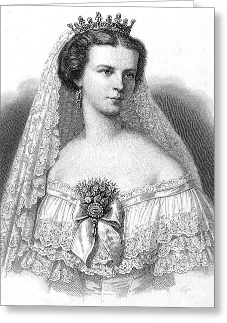 Decolletage Greeting Cards - Elizabeth Of Austria Greeting Card by Granger