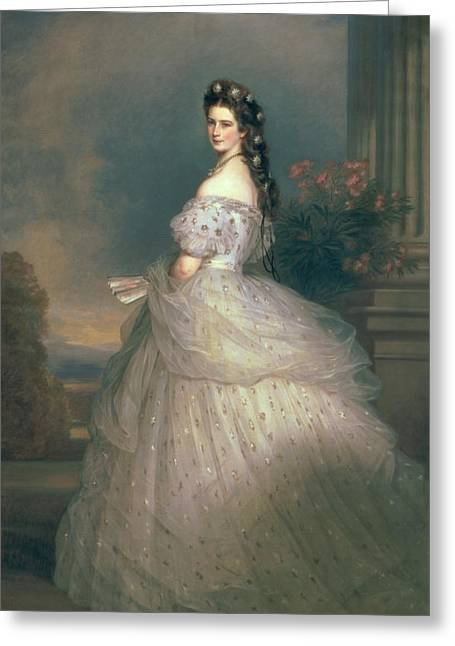 Austria Paintings Greeting Cards - Elizabeth of Bavaria Greeting Card by Franz Xavier Winterhalter