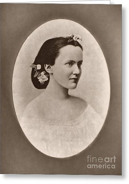 Queen Consort Greeting Cards - ELIZABETH OF RUMANIA (1843-1916). Princess of Wied and writer under the pseudonym Carmen Sylva. Queen Consort to Carol I. Photograph, undated Greeting Card by Granger