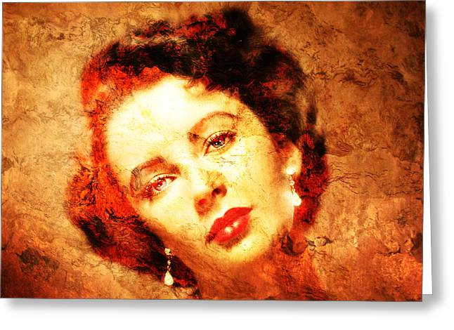 Liz Taylor Greeting Cards - Elizabeth Taylor Greeting Card by Jose Espinoza