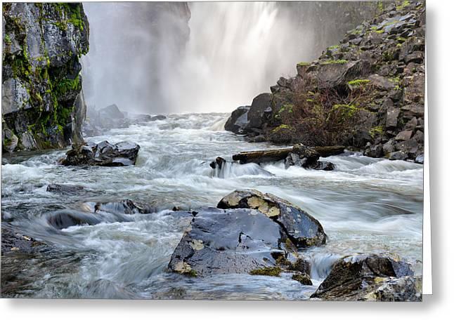 Moist Greeting Cards - Elk River Falls Greeting Card by Leland D Howard