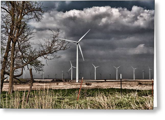 Ecologic Greeting Cards - Elk River Wind Park Greeting Card by Jim Finch