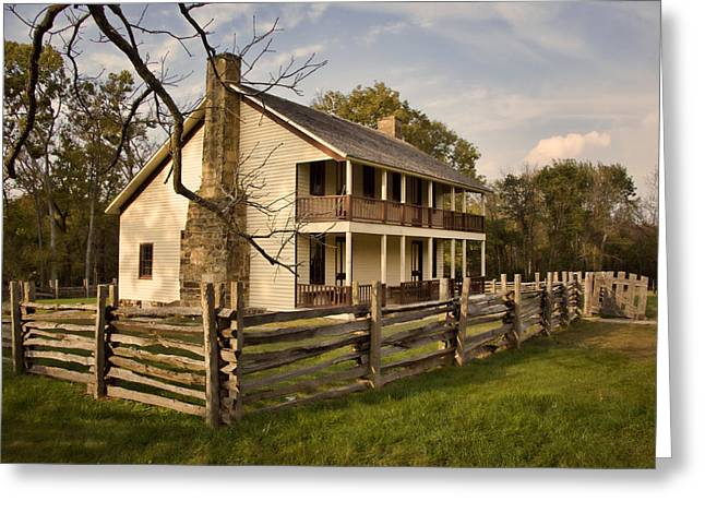 Pea Ridge Greeting Cards - Elkhorn Tavern Greeting Card by Lana Trussell