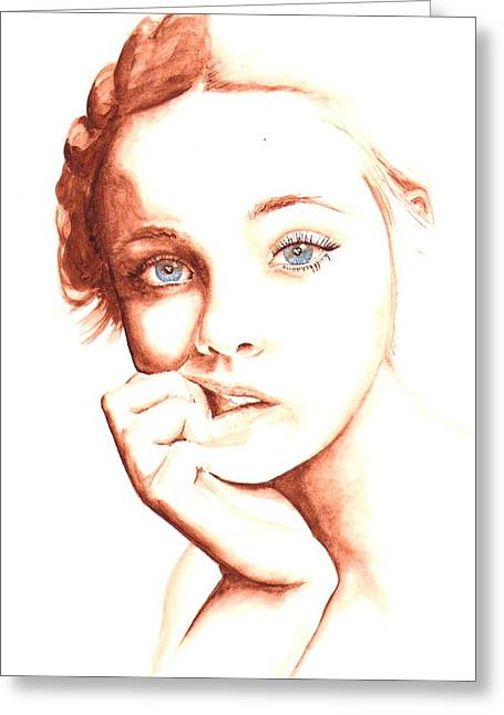 Elle Fanning Greeting Cards - Elle Greeting Card by Karl Opanowicz