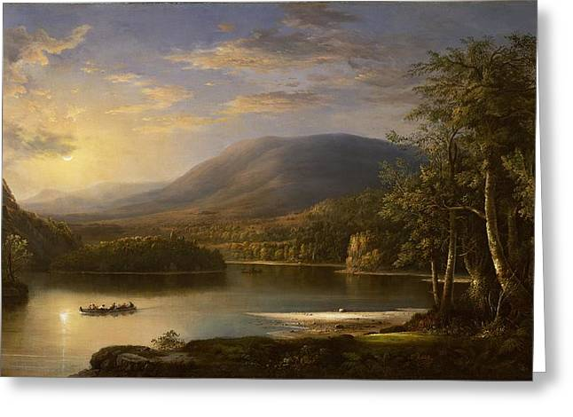 Hilly Greeting Cards - Ellens Isle - Loch Katrine Greeting Card by Robert Scott Duncanson
