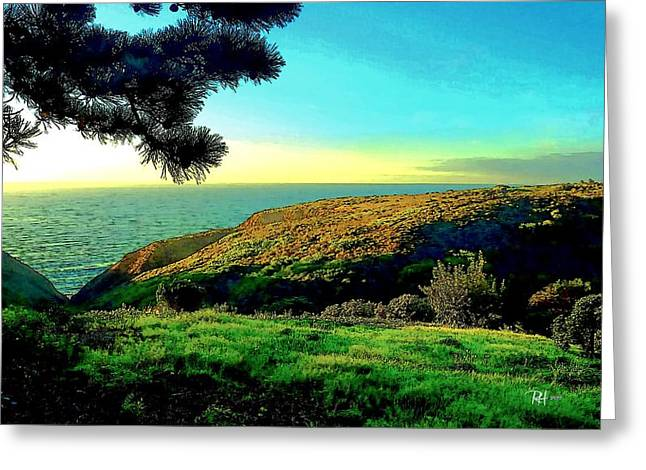 California Beach Art Digital Art Greeting Cards - Ellentown - La Jolla Greeting Card by Russ Harris