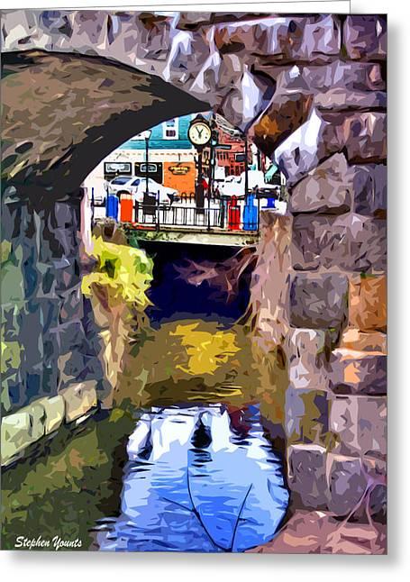 Ellicott Greeting Cards - Ellicott City Bridge Arch Greeting Card by Stephen Younts