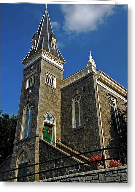Ellicott Greeting Cards - Ellicott City Steeple Greeting Card by Murray Bloom