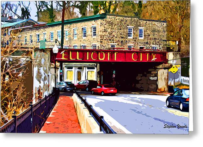 Bricks Greeting Cards - Ellicott City Greeting Card by Stephen Younts