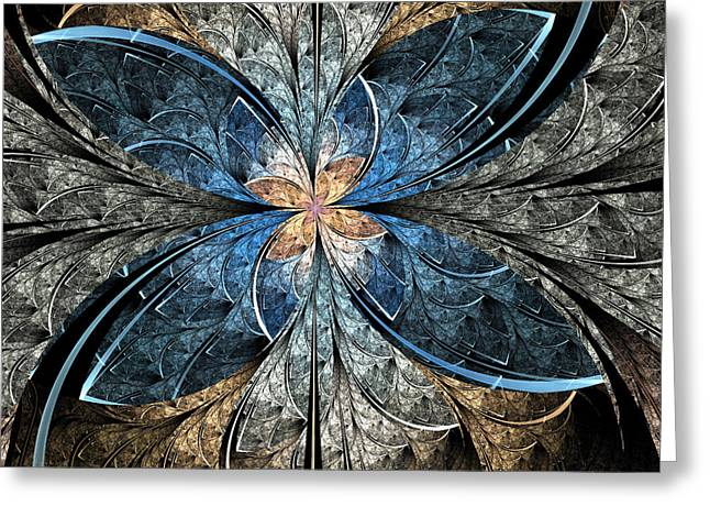 Peaceful Greeting Cards - Elliptic Butterfly Greeting Card by Pam Blackstone