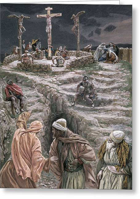Calvary Greeting Cards - Eloi Eloi Lama Sabacthani Greeting Card by Tissot