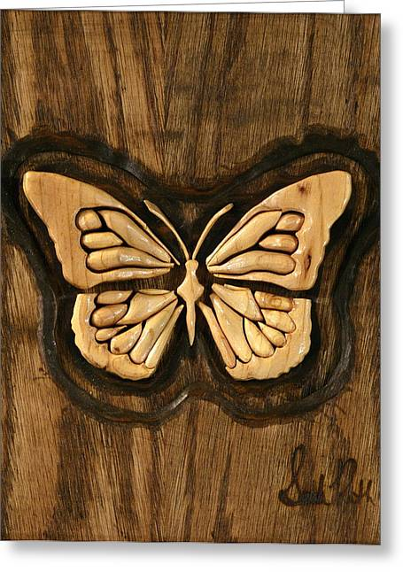 Butterflies Reliefs Greeting Cards - Eloquence Greeting Card by Sarah Ruth