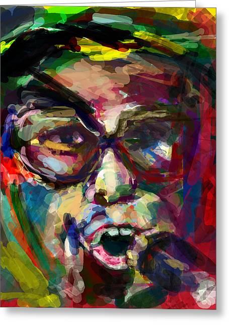 Elton John Greeting Cards - Elton in 20 Greeting Card by James Thomas
