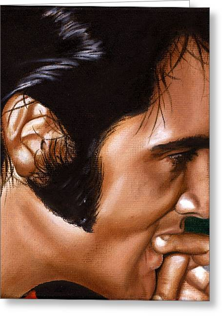 Sixties Music Greeting Cards - Elvis 24 1969 Greeting Card by Rob De Vries