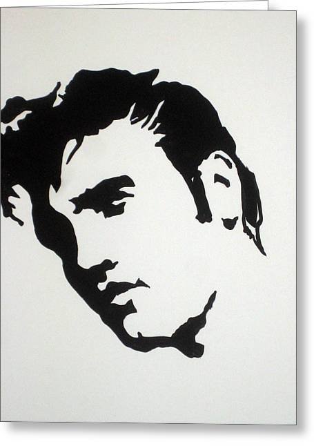 Elvis Stencil Greeting Cards - Elvis Before Time Greeting Card by Robert Margetts