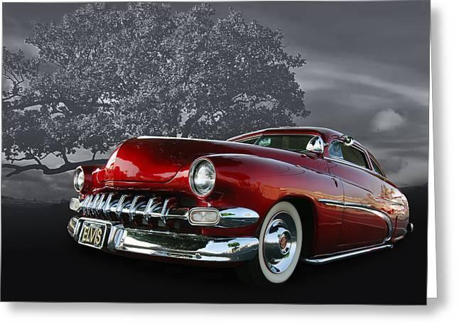 50 Merc Greeting Cards - Elvis Greeting Card by Bill Dutting
