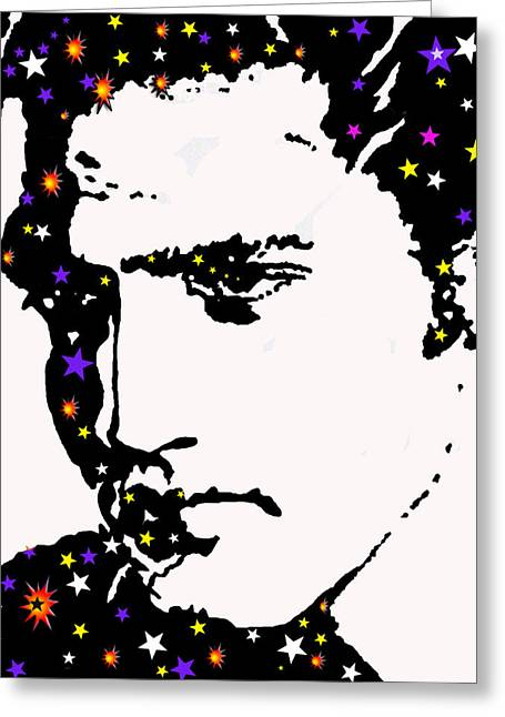 Elvis Living With The Stars Greeting Card by Robert Margetts