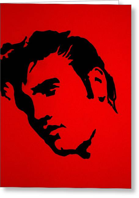 Elvis Stencil Greeting Cards - elvis on the set of True Blood Greeting Card by Robert Margetts