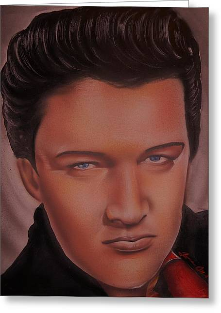 People Sculptures Greeting Cards - Elvis Presley Greeting Card by Terrence ONeal
