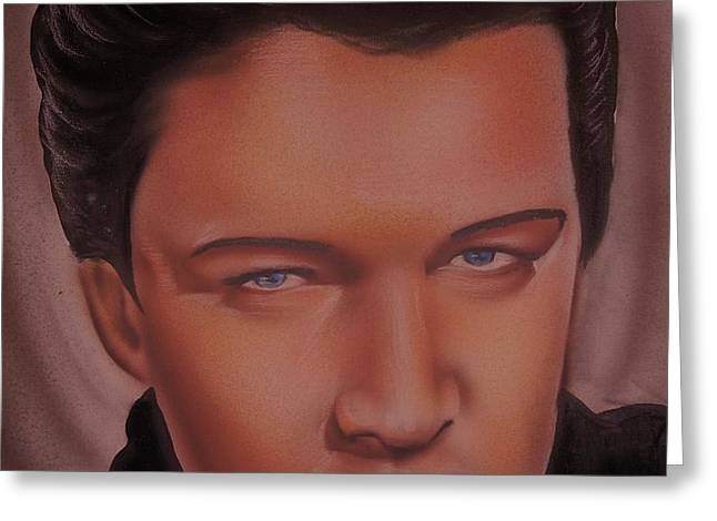 Elvis Presley Greeting Card by Terrence ONeal