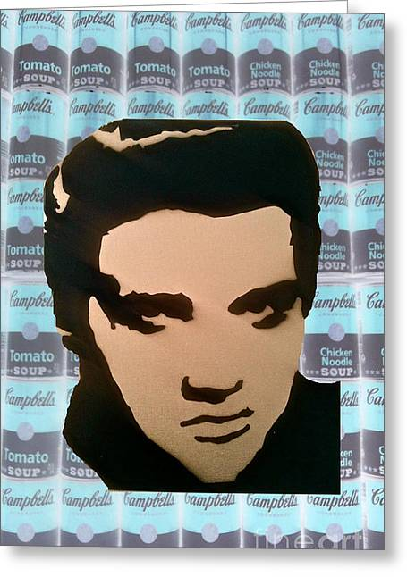 Tom Evans Greeting Cards - Elvis Soup Greeting Card by Tom Evans