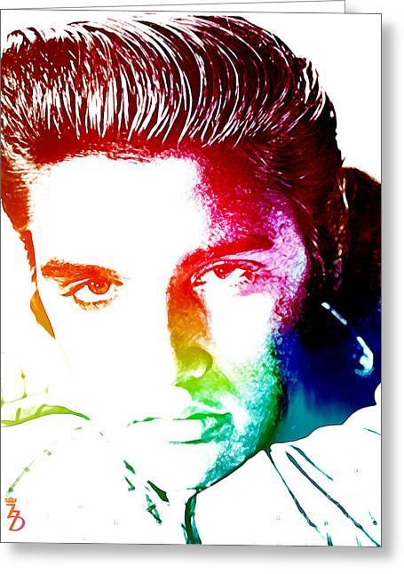 Rock N Roll Greeting Cards - Elvis Greeting Card by The DigArtisT