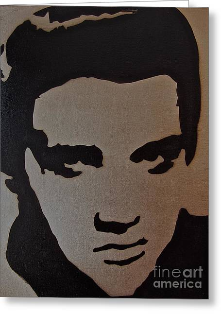 Aerosol Paintings Greeting Cards - Elvis Greeting Card by Tom Evans