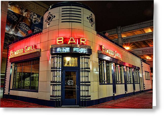Detroit Tigers Digital Greeting Cards - Elwood Bar and Grill Detroit Michigan Greeting Card by Gordon Dean II