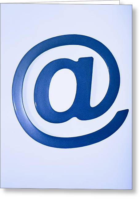 Email Greeting Cards - Email Symbol Greeting Card by Cristina Pedrazzini